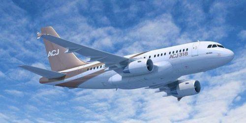 аренда частного самолета Airbus A318 Elite