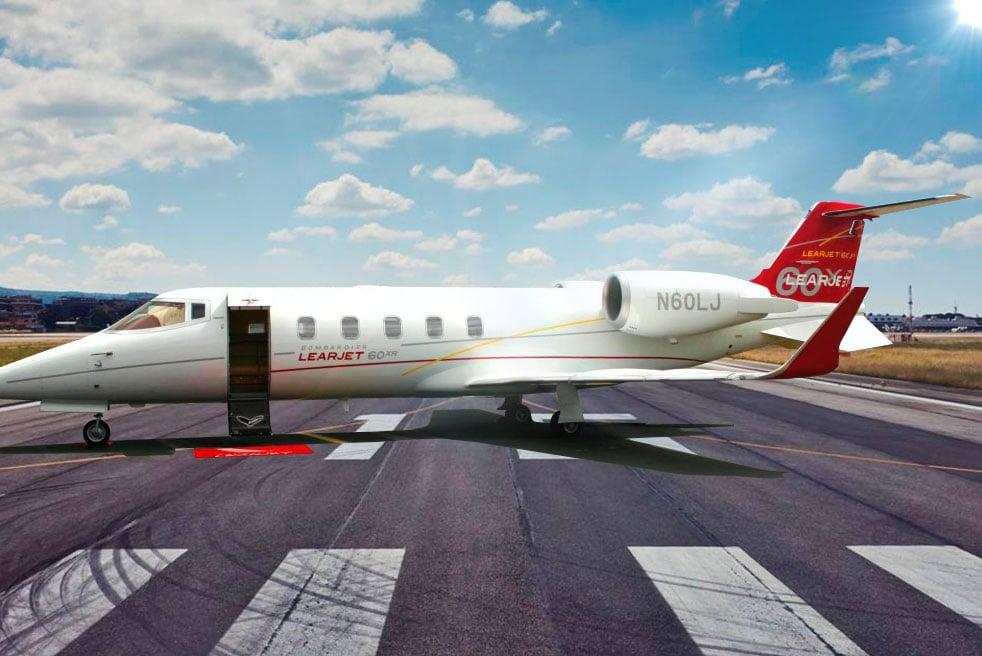 аренда частного самолета Bombardier Learjet 60